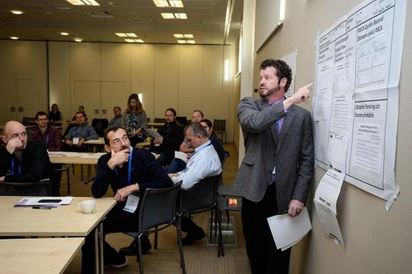 Brandon Brown, Master Kata Coach, na konferenci TWI & Kata pořádaná společností DMC management consulting