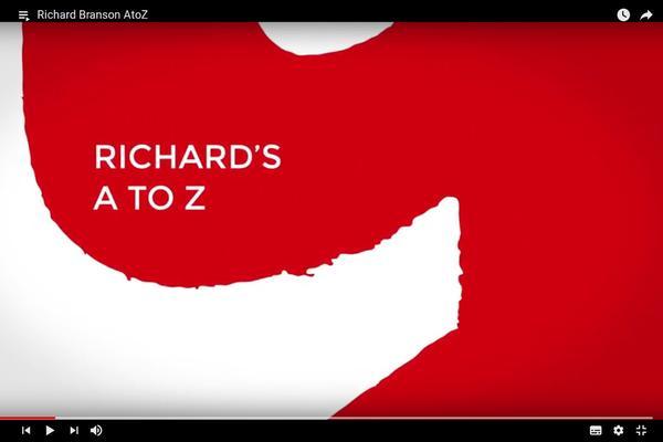 Richard Branson's AtoZ. Source: Richard Branson on Youtube
