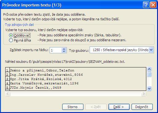 Import dat ztextových souborů do MS Excel - Jubela s.r.o.