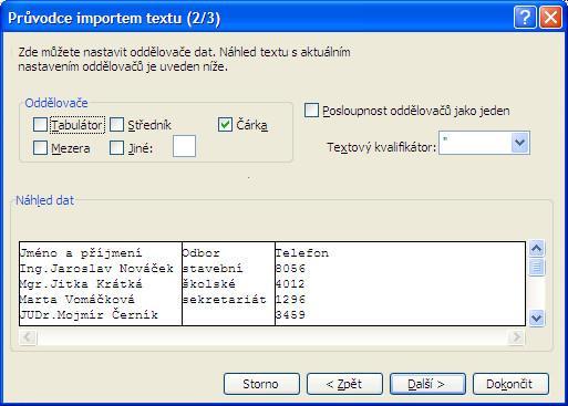 Import dat z textových souborů do MS Excel - Jubela s.r.o.