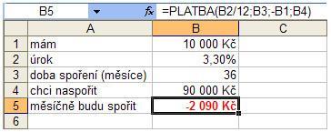 Hledání zpětného řešení v Microsoft Excel - JUBELA, s.r.o.