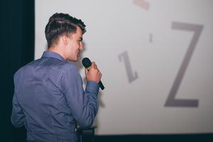 Karel Kovář, alias KOVY, na konferenci společnosti POSITIVE