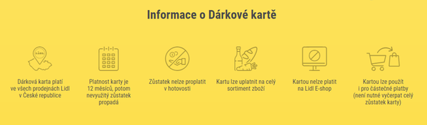 Informace o Dárkové kartě