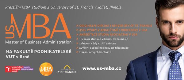 US MBA na Fakultě podnikatelské VUT v Brně