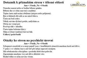 Dotazník - stres.