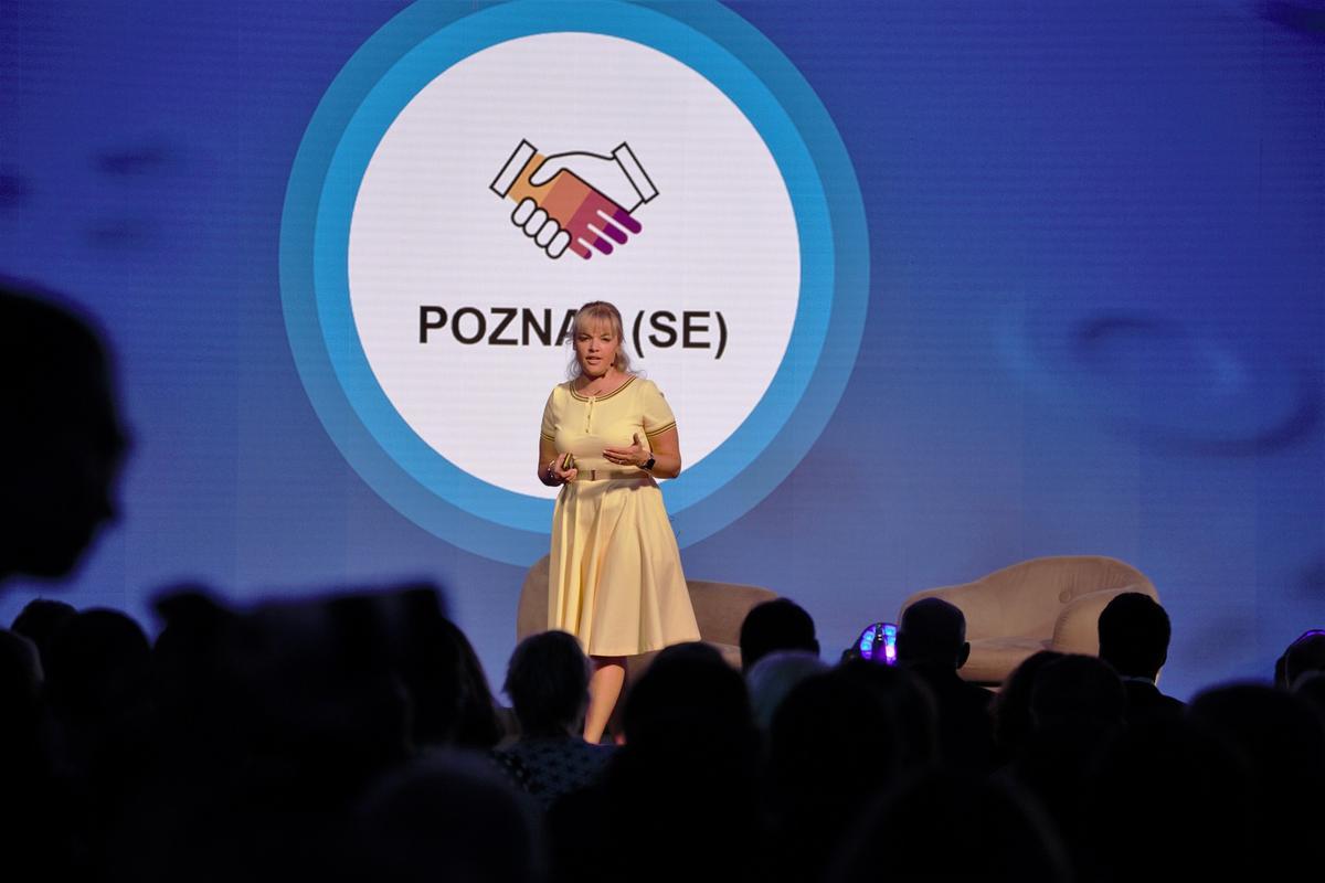Hana Součková, generální ředitelka SAP ČR, během zahájení konference SAP NOW 2019