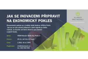 Vyhrajte vstup na workshop: Jak se inovacemi připravit na ekonomický pokles