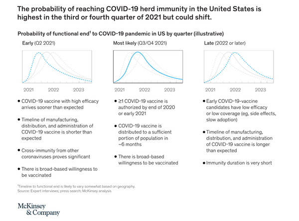 The probability of reaching COVID-19 herd immunity in the USA